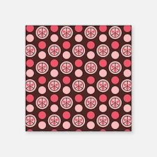 """Peace Hearts Square Sticker 3"""" x 3"""""""