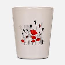 Beautiful Red Poppies Shot Glass