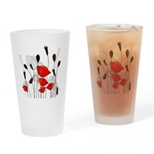Beautiful Red Poppies Drinking Glass