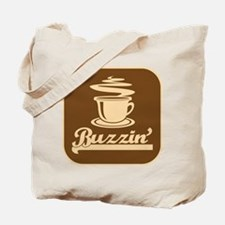 Buzzin' 70's Coffee Logo Humor Tote Bag