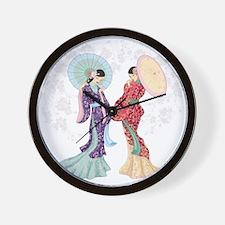 Beautiful Geishas Wall Clock