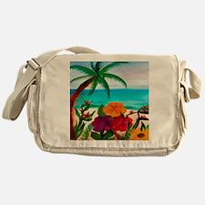 Tropical Floral Beach Messenger Bag