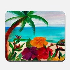 Tropical Floral Beach Mousepad