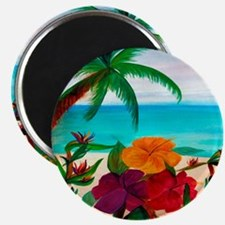 Tropical Floral Beach Magnet