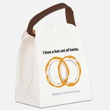 Hot Twins Canvas Lunch Bag