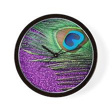 Glittery Purple Twin Wall Clock