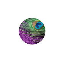 Glittery Purple Twin Mini Button