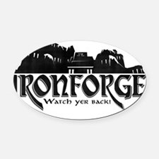 City of Ironforge Silhouette Oval Car Magnet