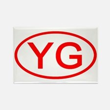 YG Oval (Red) Rectangle Magnet