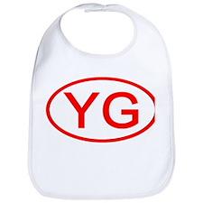 YG Oval (Red) Bib