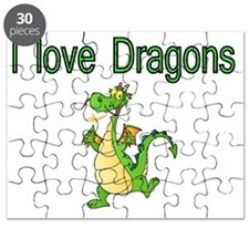 I Love Dragons Puzzle