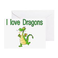 I Love Dragons Greeting Card