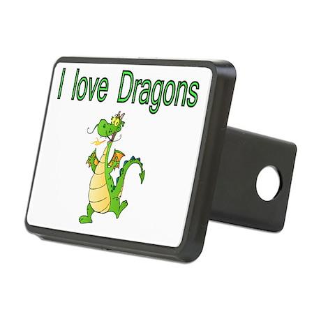 I Love Dragons Rectangular Hitch Cover