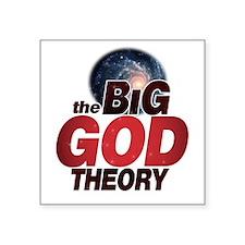 "The BiG God Theory Square Sticker 3"" x 3"""