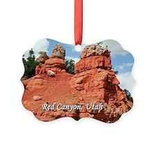 Red Canyon, Utah, USA (caption) Ornament