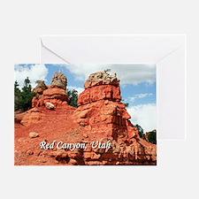 Red Canyon, Utah, USA (caption) Greeting Card