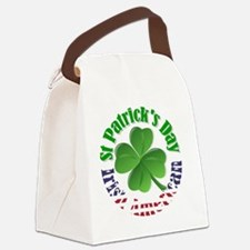Irish American St Patrick's day Canvas Lunch Bag