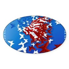The Butterfly Flag Decal