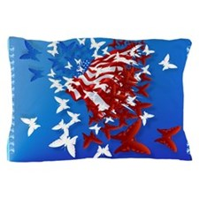 The Butterfly Flag Pillow Case