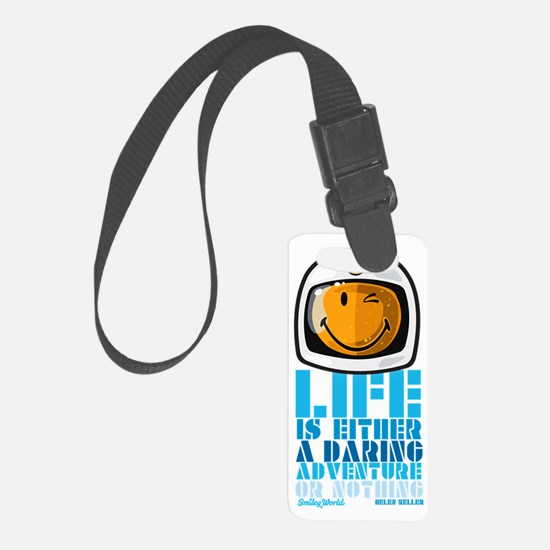 Space Man Smiley Small Luggage Tag