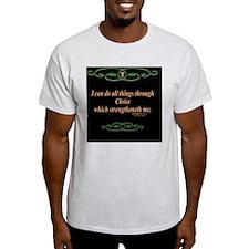 Philippians 4 13 Cross T-Shirt
