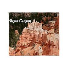 Bryce Canyon, Utah 3 (caption) Throw Blanket