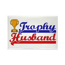 Trophy Husband Rectangle Magnet