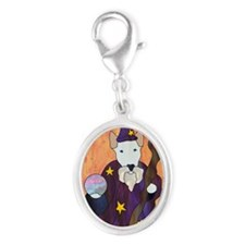 Bully Wizard Silver Oval Charm