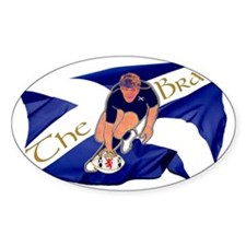 Scotland style rugby player brave g Decal