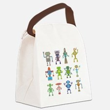 Robots by Phil Atherton Canvas Lunch Bag