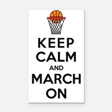 Keep Calm and March On Rectangle Car Magnet