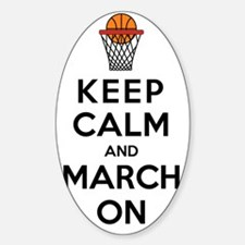 Keep Calm and March On Bumper Stickers