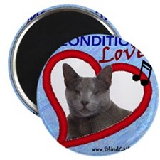Poppy Unconditional Love - Blue Magnet
