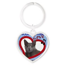 Poppy Unconditional Love - Blue Heart Keychain