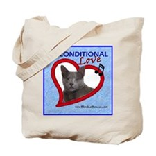 Poppy Unconditional Love - Blue Tote Bag