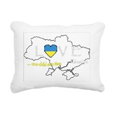 Ukraine map - one child  Rectangular Canvas Pillow