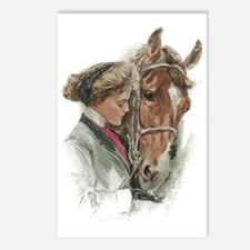 Vintage Girl And Horse Postcards (Package of 8)