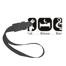 Eat, Sleep, Band logos/icons ali Luggage Tag