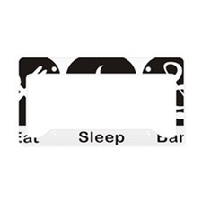 Eat, Sleep, Band logos/icons  License Plate Holder