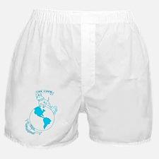 Pit Bull, Globe, and Anchor (Teal) Boxer Shorts
