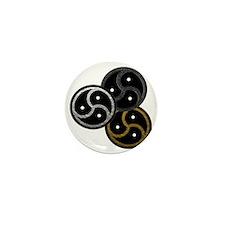BDSM Emblems (3 - metal look) Mini Button