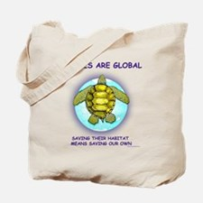 GLOBAL SEA TURTLE Tote Bag