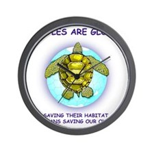 GLOBAL SEA TURTLE Wall Clock