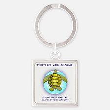 GLOBAL SEA TURTLE Square Keychain