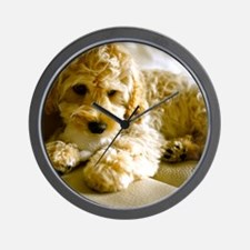 The Cockapoo Puppy Wall Clock