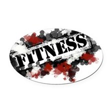 Fitness Oval Car Magnet