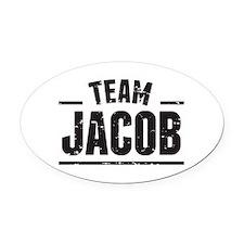 Team Jacob Oval Car Magnet