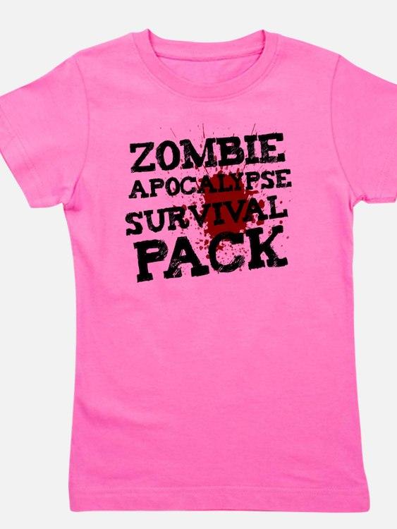 Zombie Apocalypse Survival Pack Girl's Tee