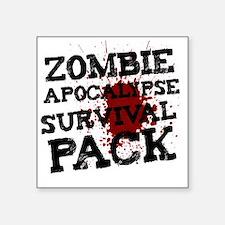 """Zombie Apocalypse Survival  Square Sticker 3"""" x 3"""""""