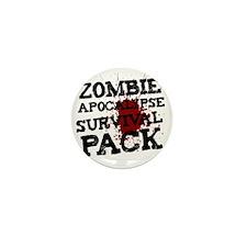 Zombie Apocalypse Survival Pack Mini Button